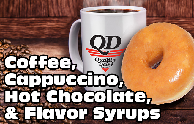 QD Coffee, Cappuccino, Hot Cocoa, and Flavor Syrups